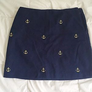 Vineyard Vines wool skirt with anchors